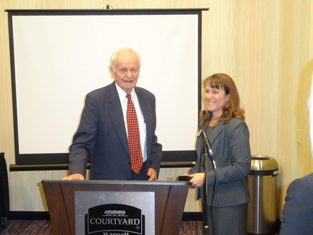 Former U.S. Secretary Bergland thanked by Sarah Schieck